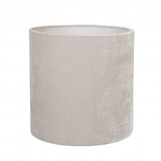 Lampeskærm silkevelour 30x30, light grey