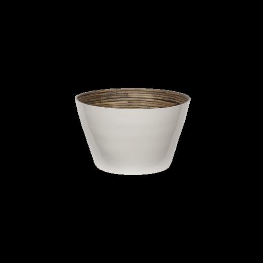 Bambus skål, white