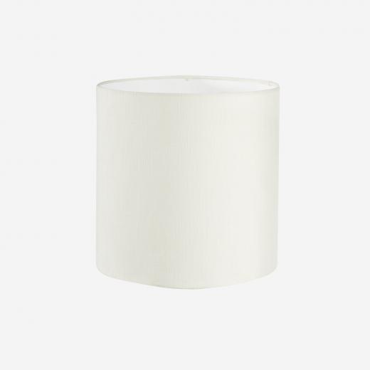 Lampeskærm, råsilke, white 30x30