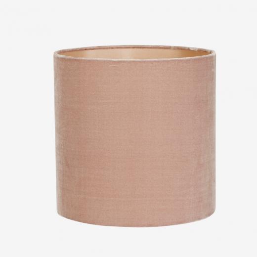 Lampeskærm, silkevelour, rosa 30x30