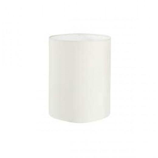 Lampeskærm, råsilke, white 24x28
