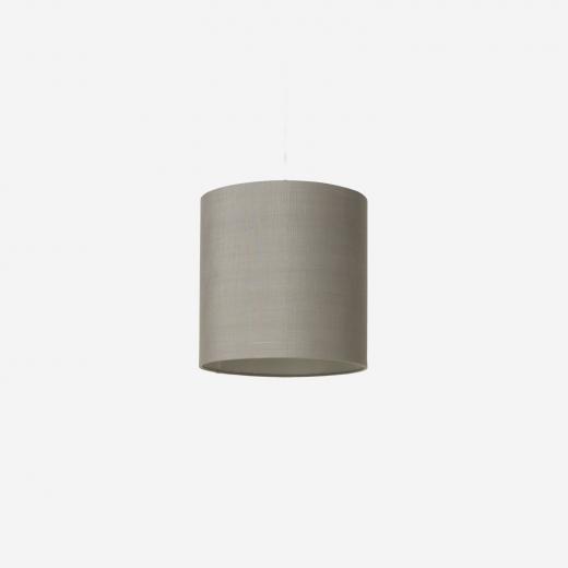 Lampeskærm, råsilke, grey 30x30