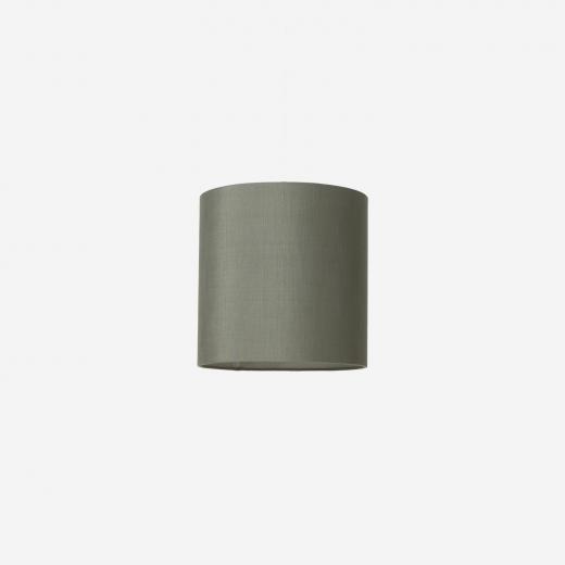 Lampeskærm, råsilke, petrol 30x30