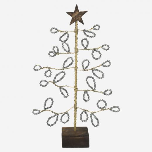 Juletræ med perleblade, grå, B