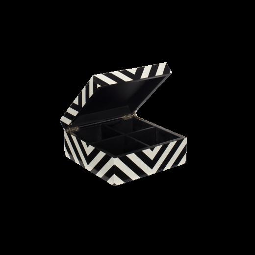 Lakskrin med striber black/white-01