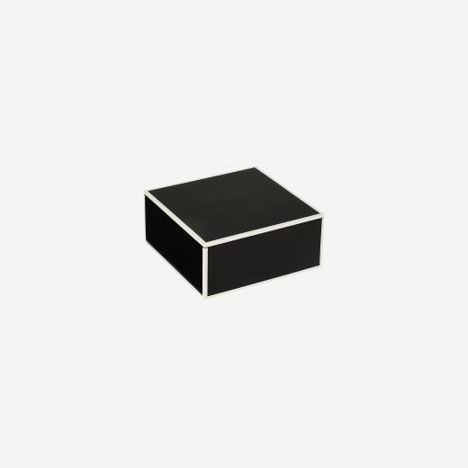 Flat lakskrin med indvendige rum S black