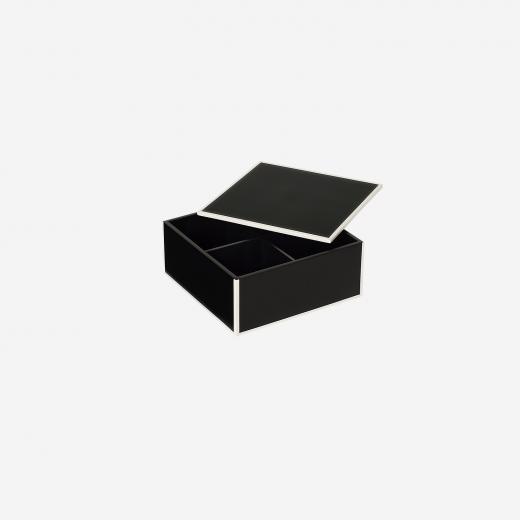 Flat lakskrin med indvendige rum S black-01