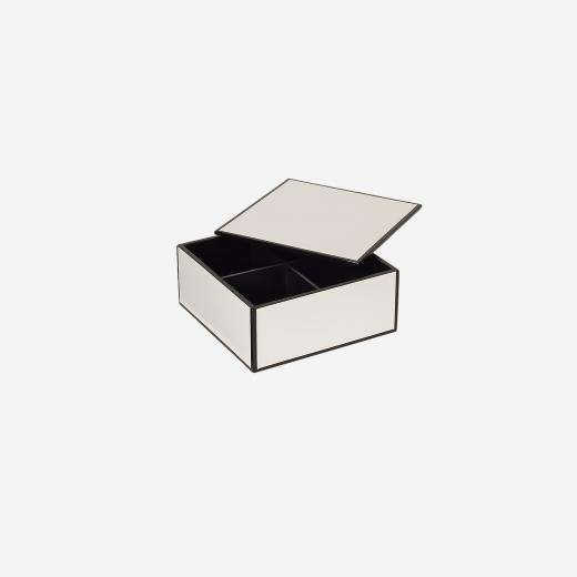 Flat lakskrin med indvendige rum S white-01