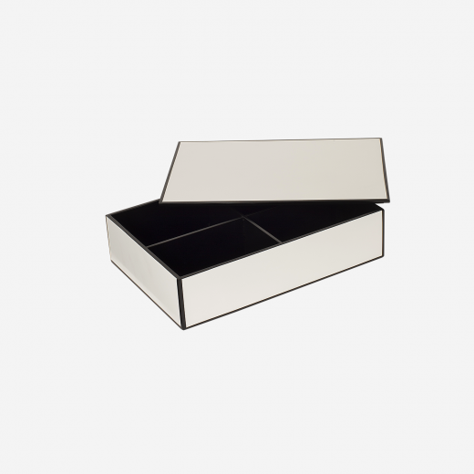 Flat lakskrin med indvendige rum B white-01