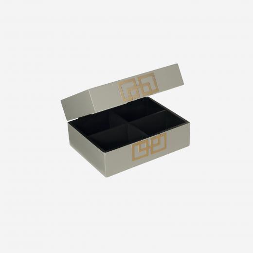 Lakskrin med metal deco S grey-01