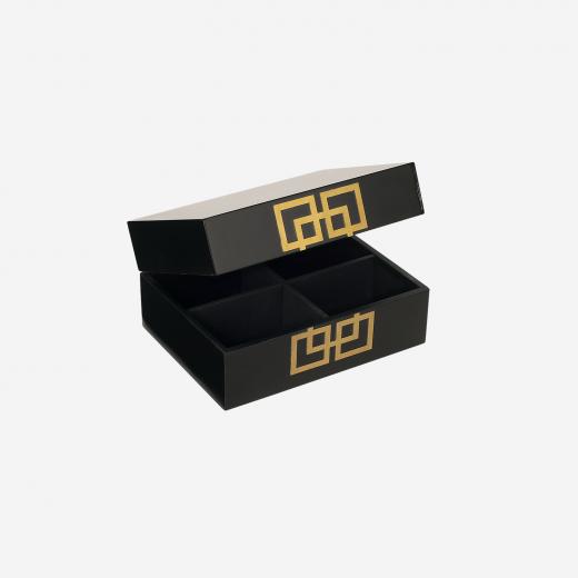 Lakskrin med metal deco S black-01