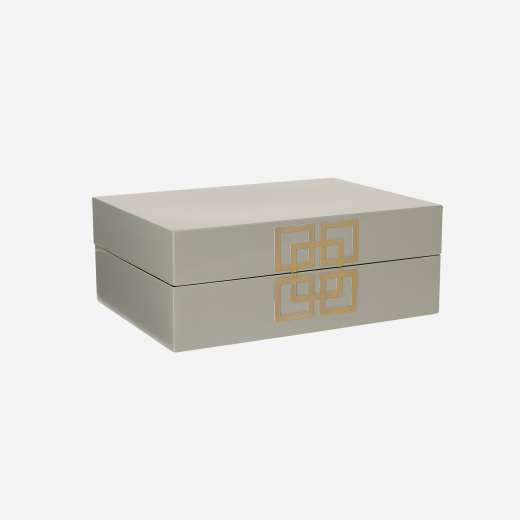 Lakskrin med metal deco B grey