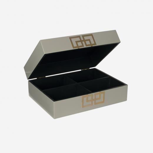 Lakskrin med metal deco B grey-01