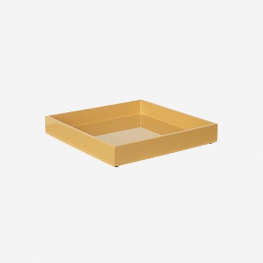 Lakbakke 20x20 cm saffron