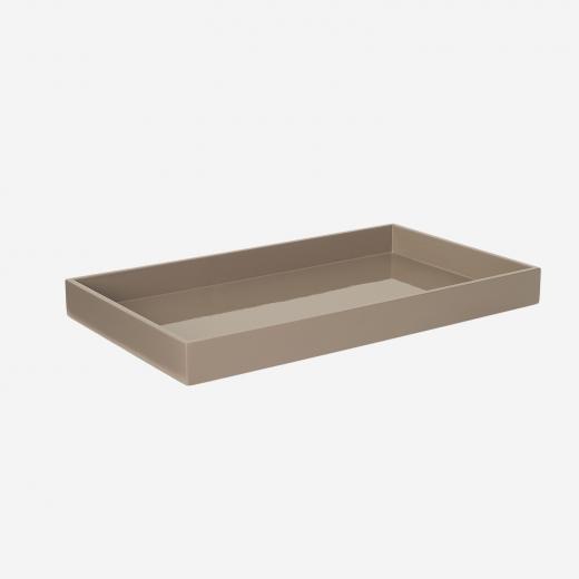 Lakbakke 38x22 brown grey