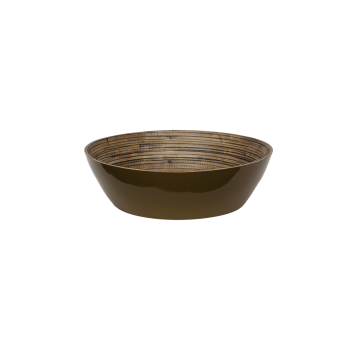 Bambus salatskål, army-20