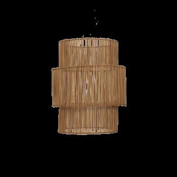 Lampeskærm, Rattan, natur-20