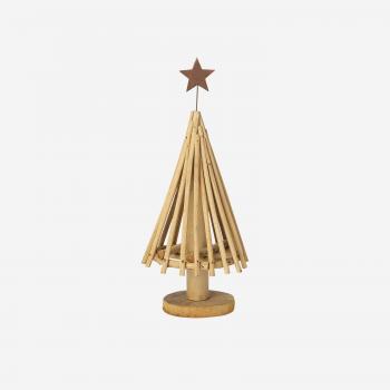 Rattan juletræ med stjerne S-20