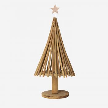 Rattan juletræ med stjerne B-20