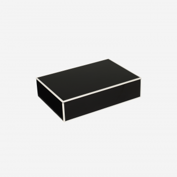 Flat lakskrin med indvendige rum B black-20