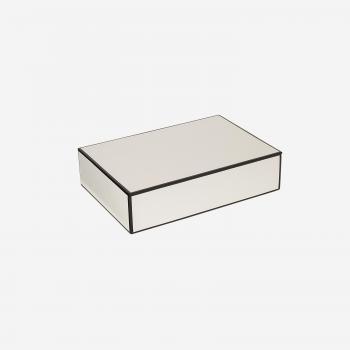 Flat lakskrin med indvendige rum B white-20