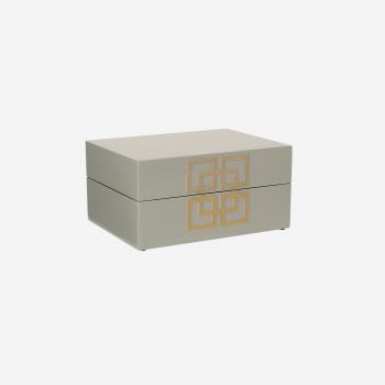 Lakskrin med metal deco S grey-20