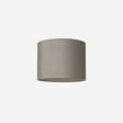 Lampeskærm, råsilke, grey 40x30