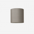 Lampeskærm, råsilke, grey 40x39