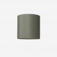 Lampeskærm, råsilke, petrol 40x39