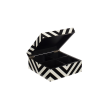 Lakskrin med striber black/white