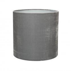 Lampeskærm silkevelour 30x30, darkgrey