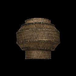 Lampeskærm Colonial, bambus, black washed