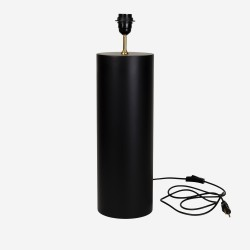 Lampefod round mat black, B