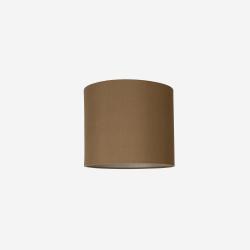 Lampeskærm råsilke dark amber 30x25 cm