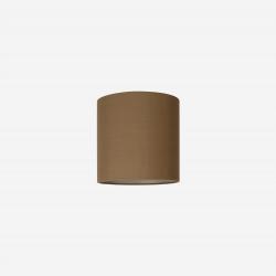 Lampeskærm råsilke dark amber 25x25 cm