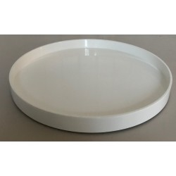 Lakbakke round 45 cm white