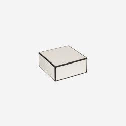 Flat lakskrin med indvendige rum S white