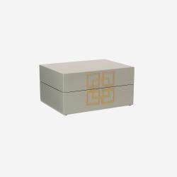 Lakskrin med metal deco S grey
